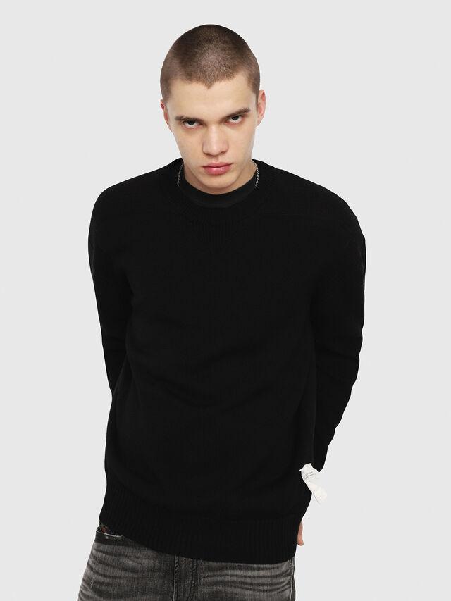 Diesel - K-MELT, Black - Knitwear - Image 1