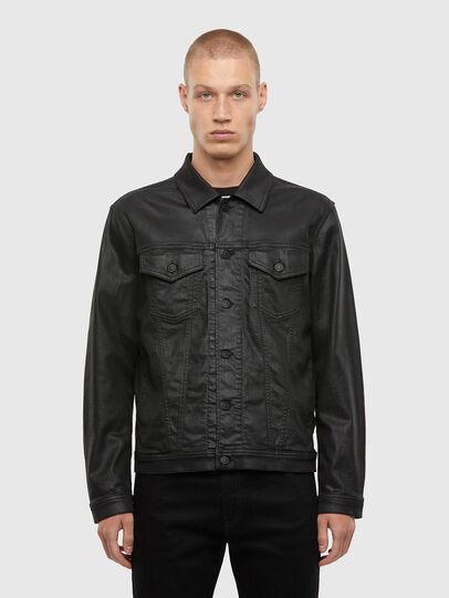 Diesel - NHILL-TW, Black - Denim Jackets - Image 1