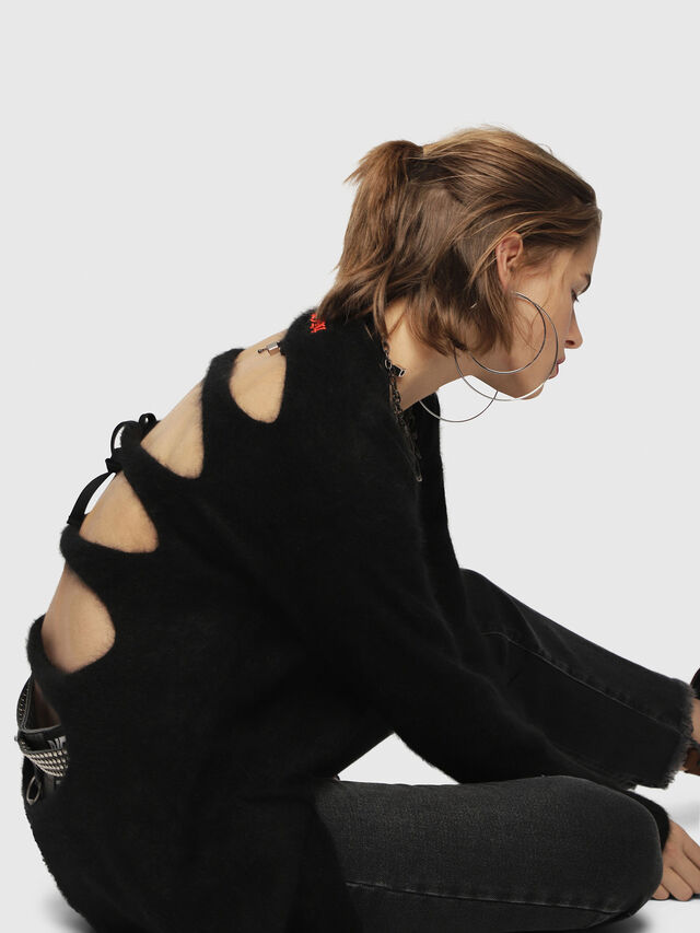 Diesel - M-DEN, Black - Knitwear - Image 3