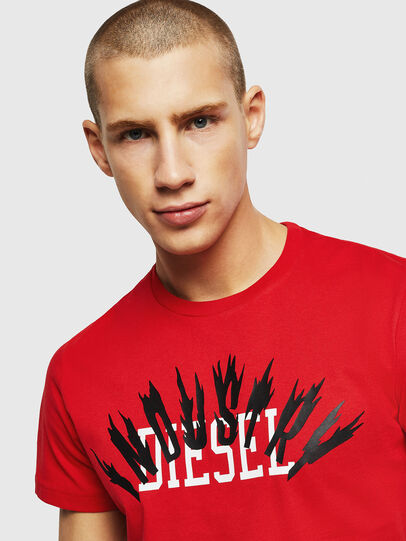 Diesel - T-DIEGO-A10, Fire Red - T-Shirts - Image 3