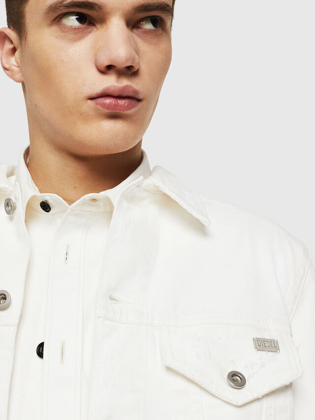Diesel - D-BRAY, White - Denim Jackets - Image 3