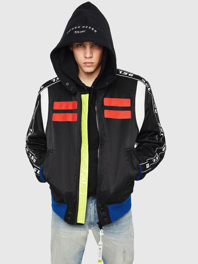 Diesel - J-HID, Black - Jackets - Image 1
