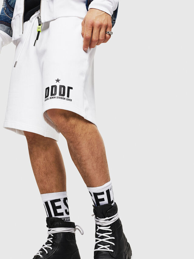 Diesel - P-ALF-SHORT, White - Shorts - Image 3