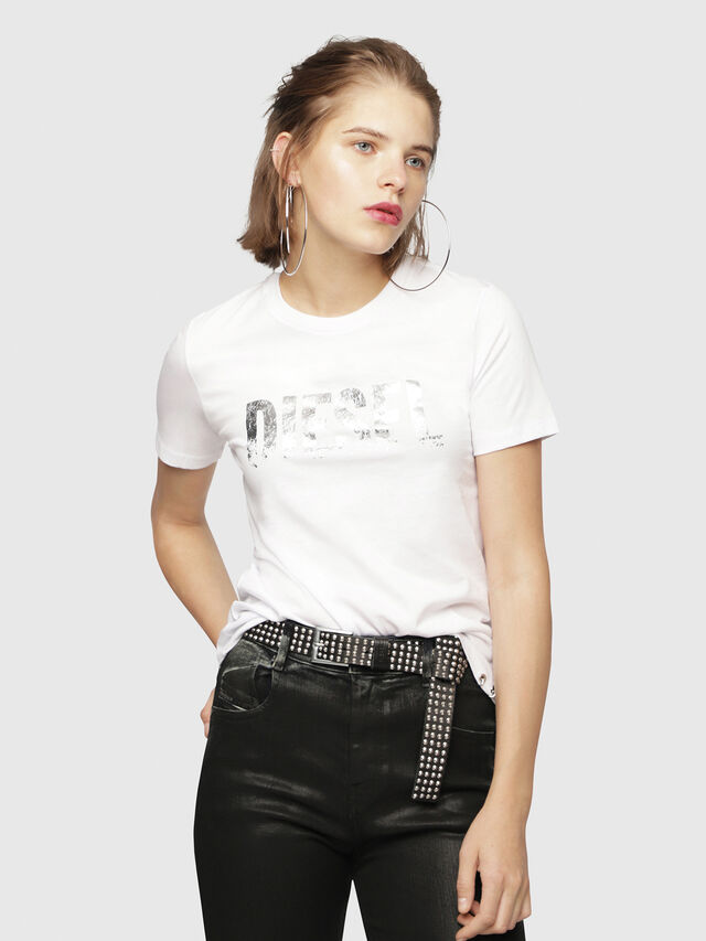 Diesel - T-SILY-WH, White - T-Shirts - Image 1