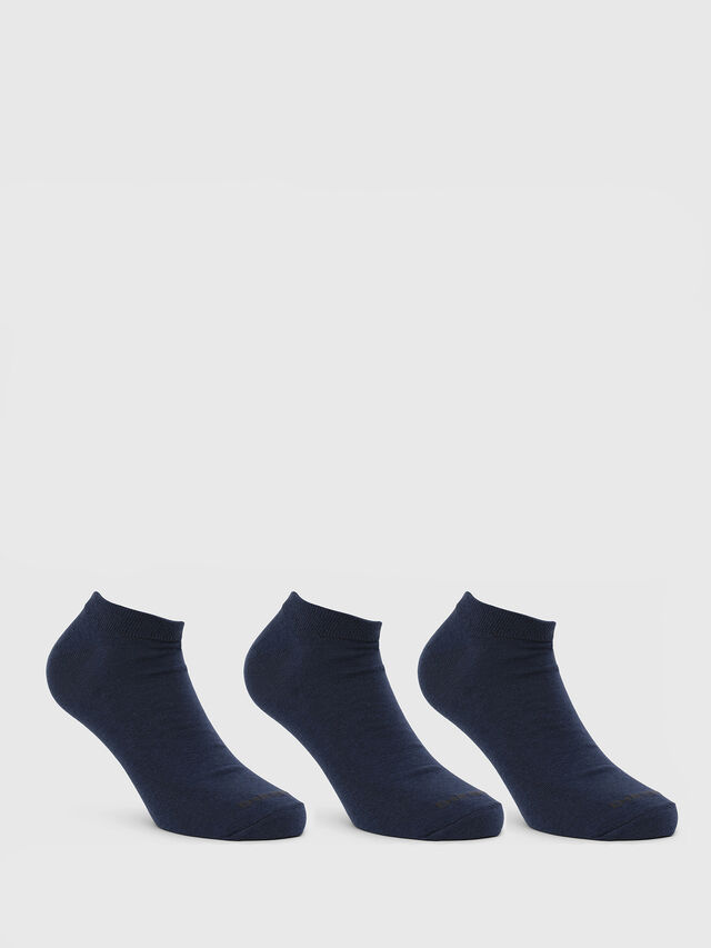 Diesel - SKM-GOST-THREEPACK, Blue - Low-cut socks - Image 1