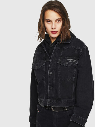 Diesel - DE-CATY, Black - Denim Jackets - Image 1