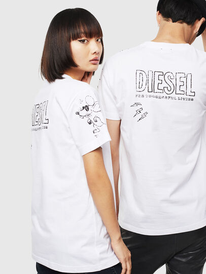 Diesel - CL-T-DIEGO-3, White - T-Shirts - Image 3