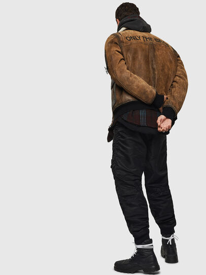 Diesel - L-OIUKIRO, Brown - Leather jackets - Image 8