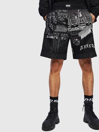 Diesel - P-KUMI-PRINT-A, Black - Shorts - Image 1