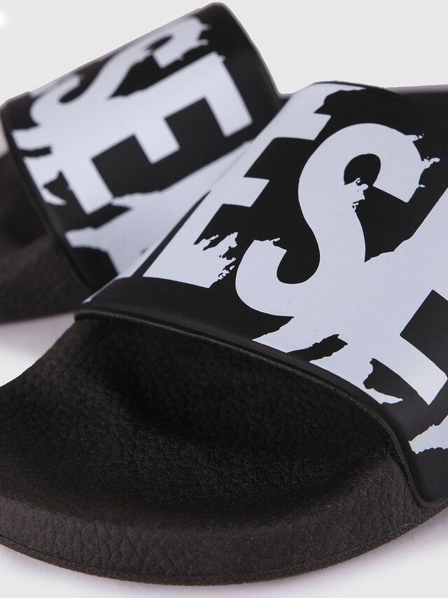 Diesel SA-MARAL, Black/White - Slippers - Image 3