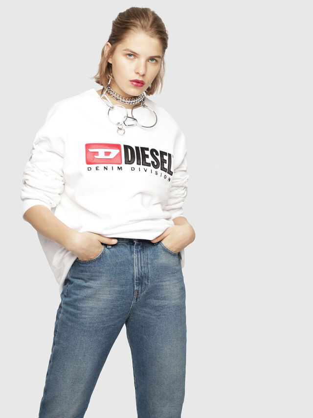 Diesel - F-ARAP, White - Sweaters - Image 1