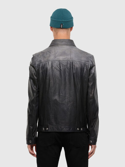 Diesel - L-NHILL-TRE, Black - Leather jackets - Image 2