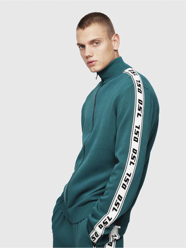 Diesel - K-KER-A, Dark Green - Knitwear - Image 3