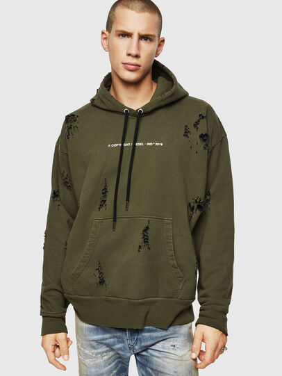 Diesel - S-ALBY-RIP, Military Green - Sweaters - Image 1