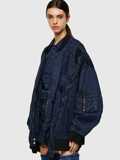 Diesel - D-FRANKIE-SP JOGGJEANS, Dark Blue - Denim Jackets - Image 4
