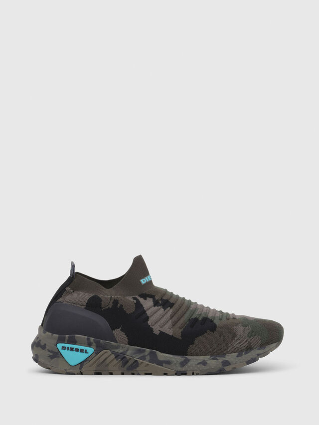 Diesel - S-KB ATHL SOCK, Green Camouflage - Sneakers - Image 1