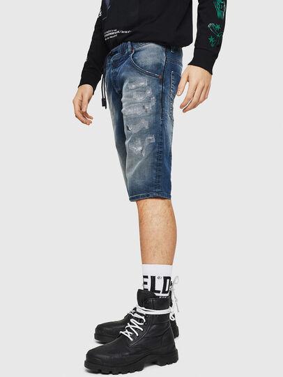 Diesel - D-KROOSHORT JOGGJEANS, Medium blue - Shorts - Image 4