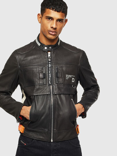 Diesel - L-DIXON, Black - Leather jackets - Image 1