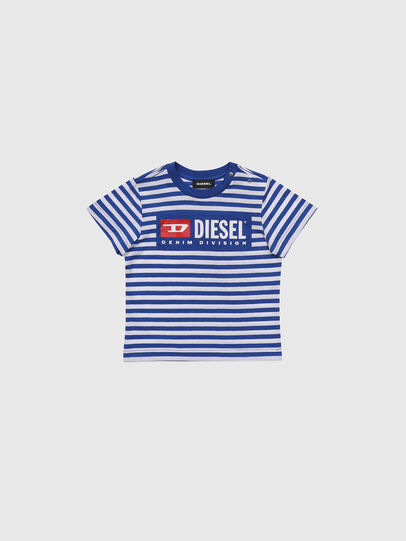Diesel - TVIKB, Blue/White - T-shirts and Tops - Image 1