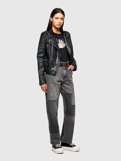 Diesel - L-IGE-NEW-A, Black - Leather jackets - Image 6