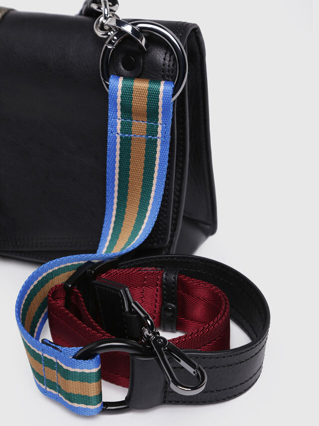 Diesel - MISS-MATCH CROSSBODY, Black Leather - Crossbody Bags - Image 4