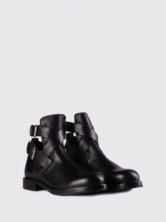 Diesel D-KOMB BOOT FOB, Black Leather - Ankle Boots - Image 2