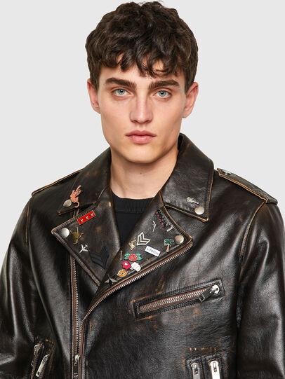 Diesel - L-GARRETT-NEW, Black - Leather jackets - Image 3