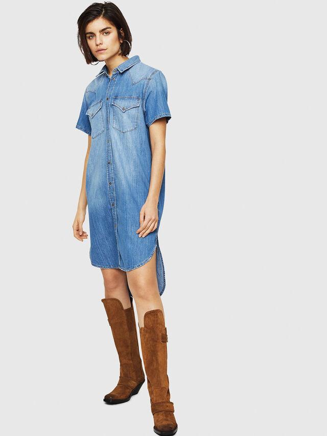 Diesel - DE-BLANCHE-SL, Blue Jeans - Dresses - Image 1