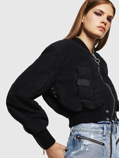 Diesel - W-LESKY, Black - Winter Jackets - Image 3