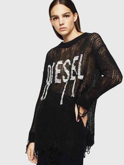 Diesel - M-ANDREA, Black - Knitwear - Image 6