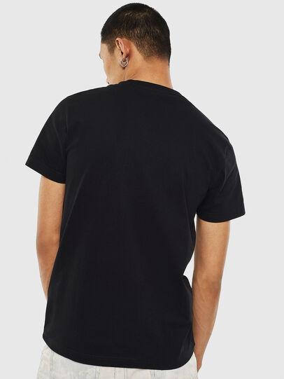 Diesel - T-DIEGO-S7, Black/Orange - T-Shirts - Image 2