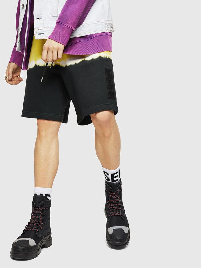 Diesel - P-TOX-DEEP, Black/Yellow - Shorts - Image 4