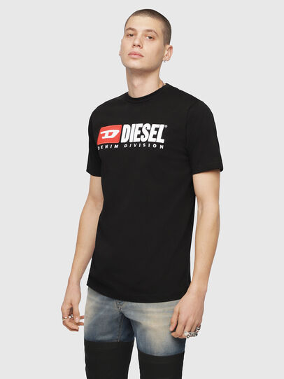 Diesel - T-JUST-DIVISION, Black - T-Shirts - Image 1