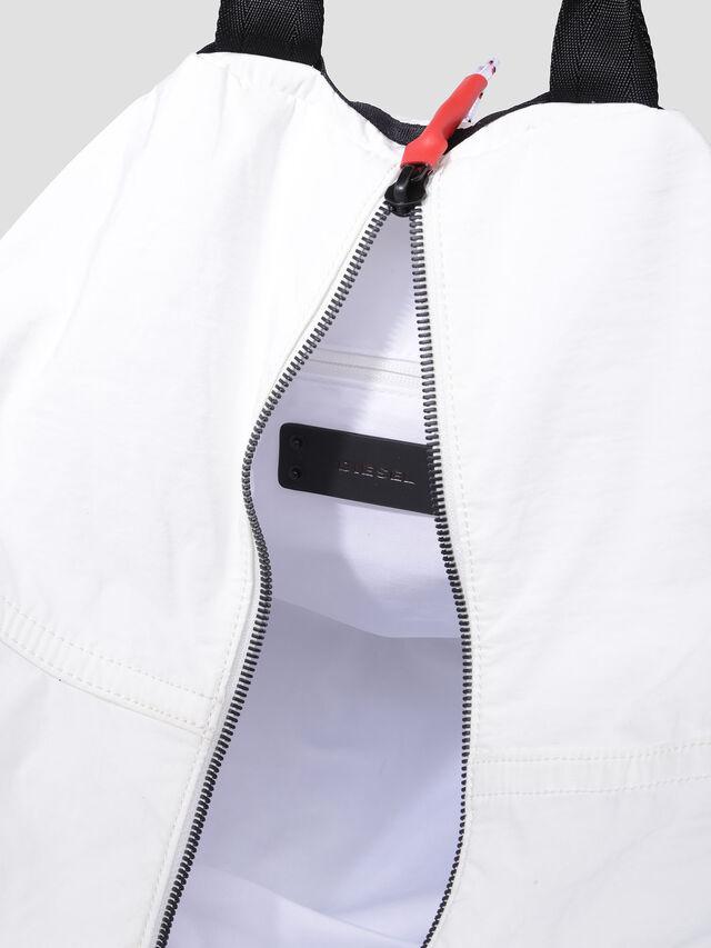 Diesel - D-CAGE SHOPPER, White/Black - Shopping and Shoulder Bags - Image 3