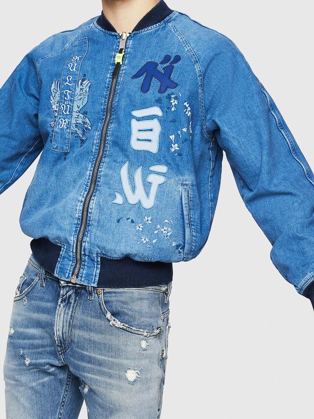 Diesel - D-BAK, Blue Jeans - Denim Jackets - Image 4