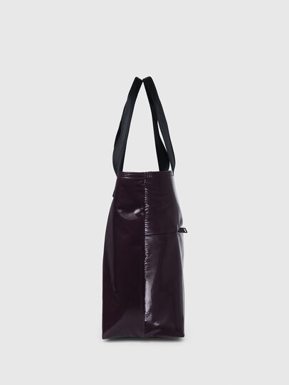 Diesel - F-BOLD SHOPPER III, Dark Violet - Shopping and Shoulder Bags - Image 3