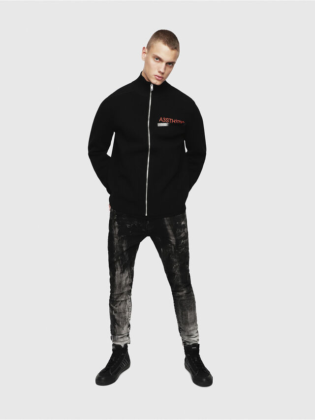 Diesel - K-STETIC, Black - Knitwear - Image 4