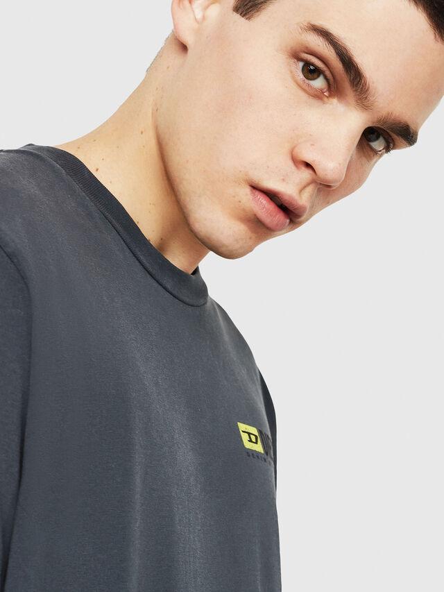 Diesel - DXF-T-JUST, Black/Dark grey - T-Shirts - Image 5