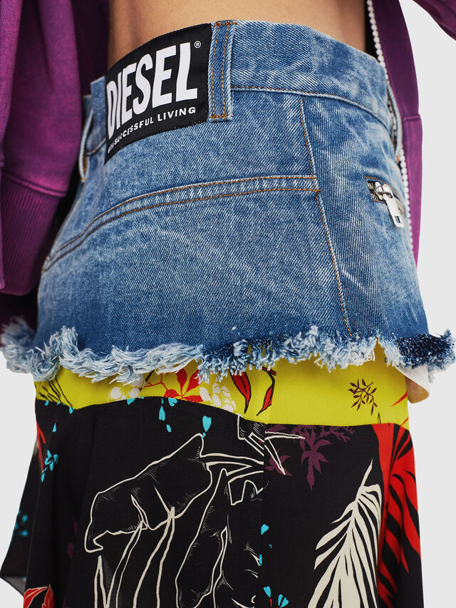 Diesel - O-BRIELLA, Black/Blue - Skirts - Image 3