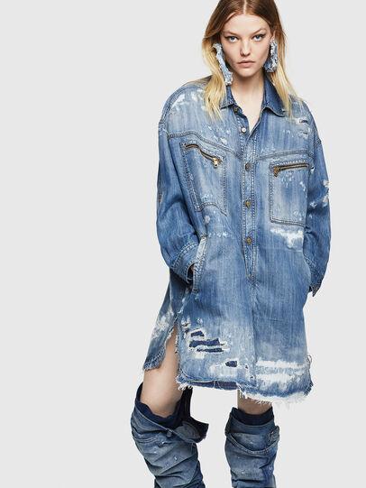 Diesel - DE-EPPIE, Light Blue - Dresses - Image 1