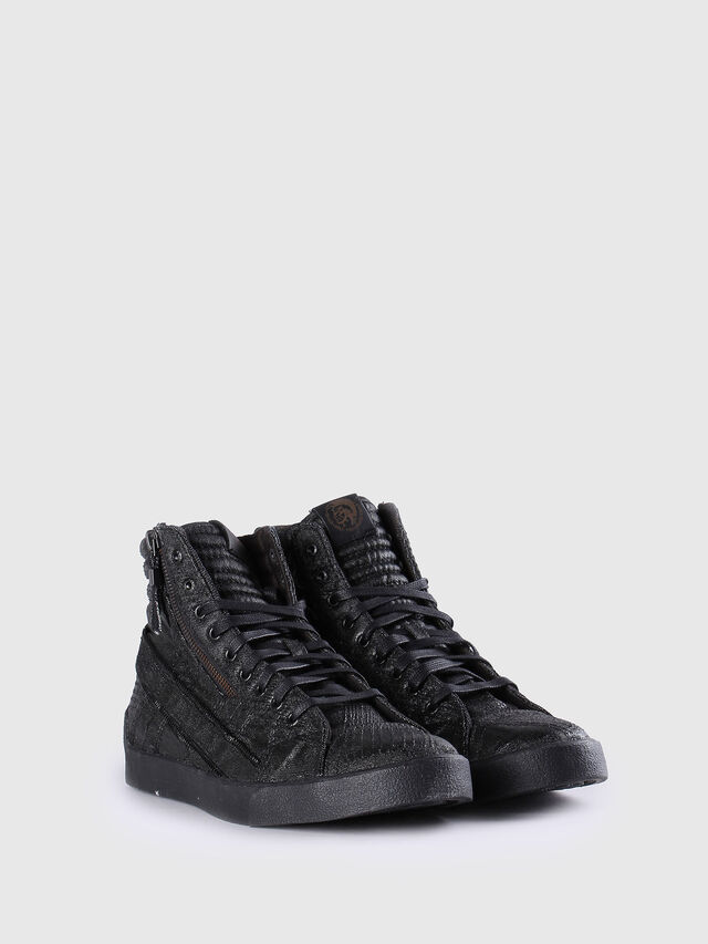 Diesel D-STRING PLUS, Black Leather - Sneakers - Image 2