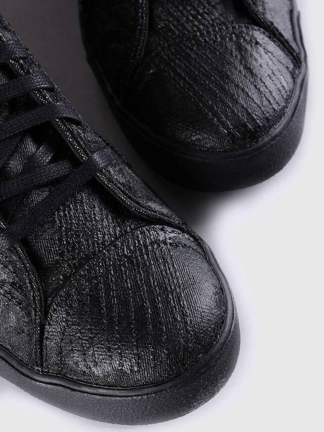 Diesel D-STRING PLUS, Black Leather - Sneakers - Image 4