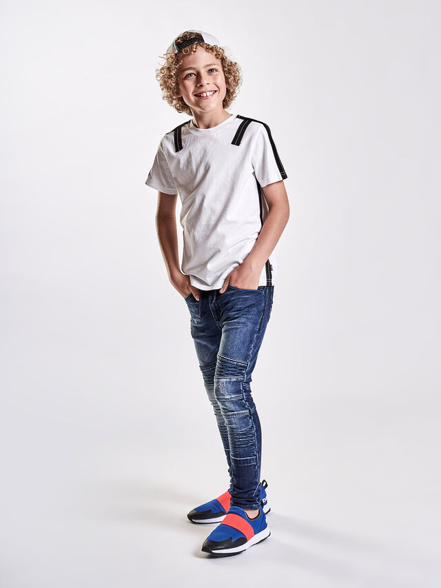 Diesel - TJUSTAPE, White - T-shirts and Tops - Image 4