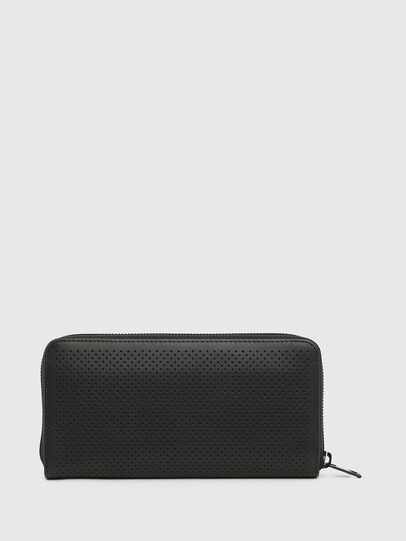 Diesel - 24 ZIP, Black - Zip-Round Wallets - Image 2