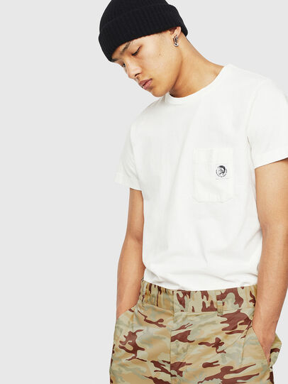 Diesel - T-WORKY-MOHI-S1, White - T-Shirts - Image 4