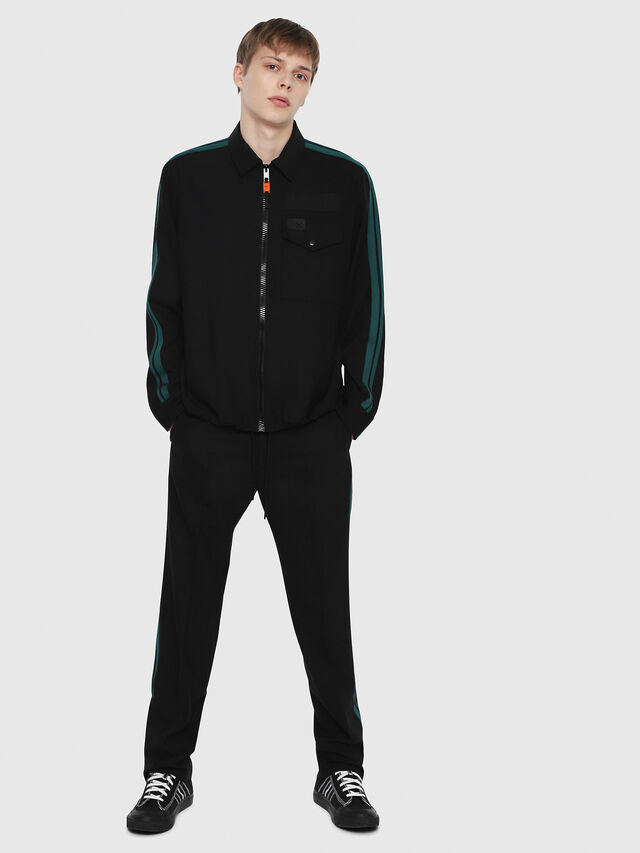 Diesel - P-ARK, Black/Green - Pants - Image 4