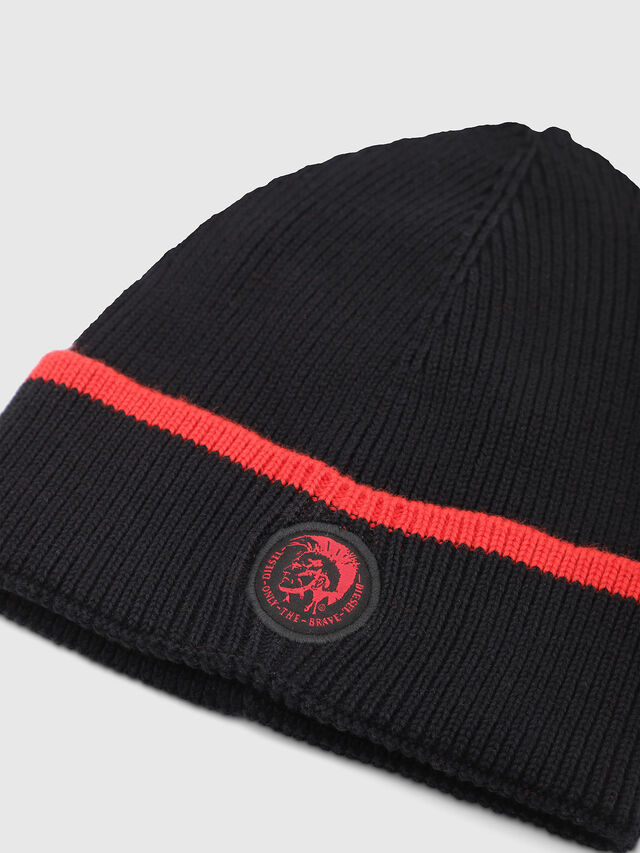 Diesel - DVL-BANY-CAPSULE, Black/Red - Knit caps - Image 3