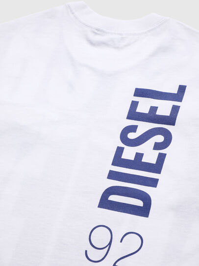 Diesel - TLUCASSLY1 OVER, White/Black - T-shirts and Tops - Image 4