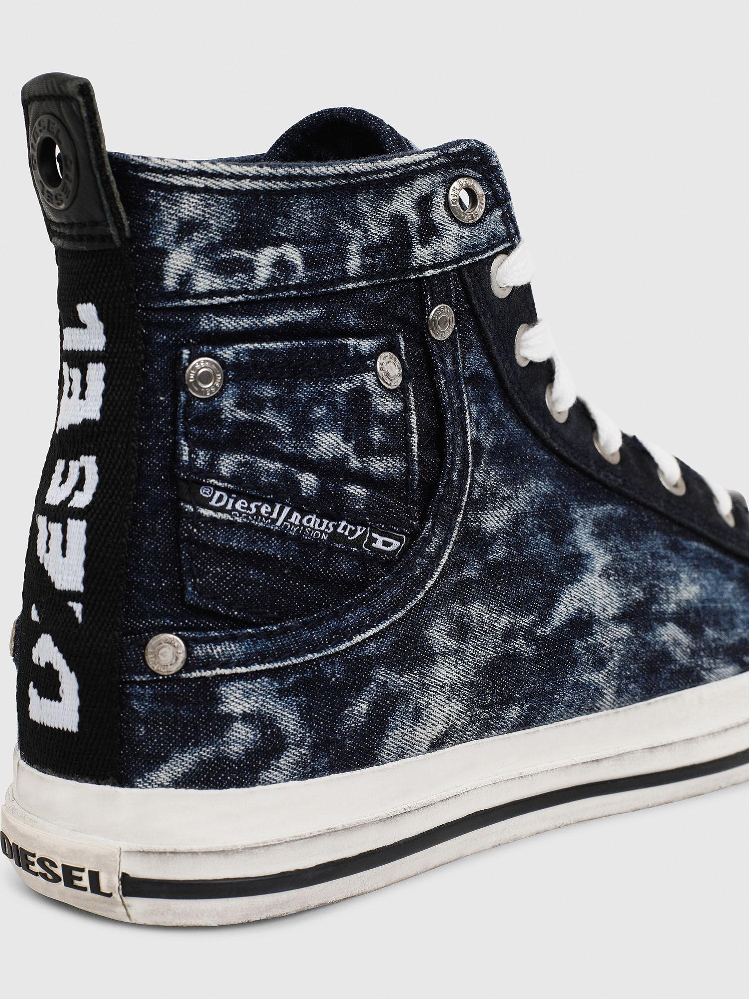 sneakers in distressed denim   Diesel