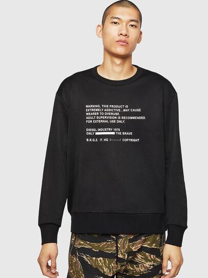 Diesel - S-BAY-MESH, Black - Sweaters - Image 1